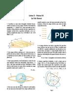 Lista 2 - Lei de Gauss