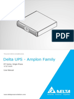 Delta UPS User Manual RT Series 1-3K