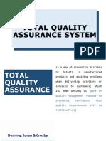 Tqm Total Quality Assurance Report