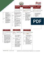 Calendario Academico Administrativo 2 2017