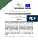 Factores Críticos de Éxito en las Iniciativas Institucionales de eLearning