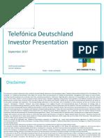 Telefónica Deutschland Investor Presentation 2017