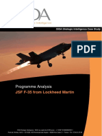 Programme Analysis - JSF F-35 from Lockheed Martin