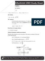 Study Sheet