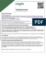 International Journal of Development Issues