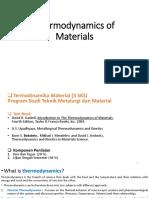Termodinamika Material