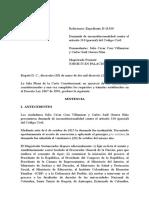 C-262-16 Sentencia Sustitutiva, Expresión Padres en Lugar de Conyuges