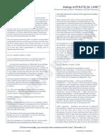 Justice Bersamin Ponencia - Political Law