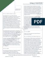 Justice Bersamin Ponencia - Taxation Law