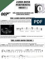 James Bond Performing Sheets EDIT