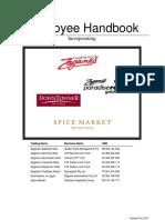 Employee Handbook and Standards of Work