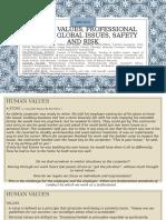 Human Values, Professional Ethics, Global Issues