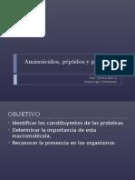 Aminoácidos, Péptidos y Proteínas