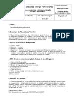 ORDEM de SERVIÇO Lider de Manutenção Eletrica Industrial