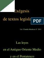 002 Las Leyes en El AOM y en El Pentateuco-2011