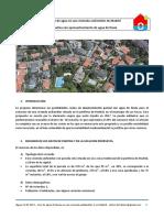 Consumo de agua en vivienda unifamiliar en Madrid; aprovechamiento de agua de lluvia