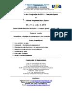 Anais Forum Regional Das Aguas 2016
