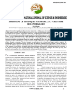 Assessment of Techniques for Modelling Forest Fire Risk and Hazards
