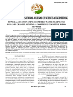 Power Allocation Using Geometric Water Filling and Dynamic Channel Sensing Algorithm in Cognitive Radio Network