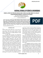 Simulation of Fir Filter Banks Using Daubechies Wavelet With Orthonormal Basis Functions