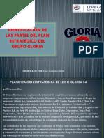 Identificación de Las Partes Del Plan Estratégico Del Grupo Gloria