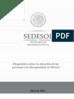 Diagn Stico Sobre La Situaci n de Las Personas Con Discapacidad. Mayo 2016