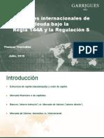 Thomas Thorndike Emision Internacional de Deuda Rule 144A Regulation S Evento Advocatus