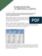 Tablas Establecidas Para Liquidar El Impuesto a La Renta 2016