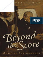 Nicholas Cook-Beyond the Score_ Music as Performance-Oxford University Press (2014)