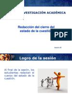 Sesion 25 Redaccion Del Cierre