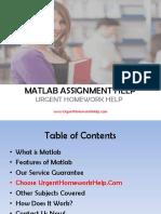 Matlab Assignment Help. Matlab Programming Help.