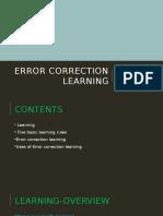Error Correction Learning