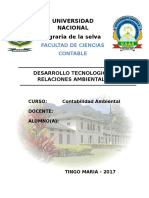 Desarrollo Tecnologico y Relaciones Ambientales