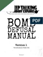 keep talking and nobody explodes - game manual