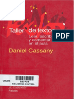 Taller de Textos - Daniel Cassany
