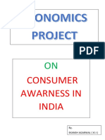 Questionnaire on Consumer Awareness