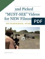 Hand Picked Videos Diy Film School