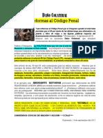 DAÑO COLATERAL Reformas Código Penal