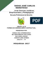 Formas de Desequilibrio Contractual