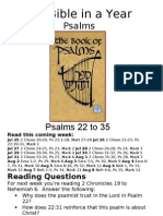 Bible in a Year 37 38 PS Psalms 22 to 35