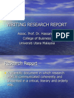 Writing Research Report