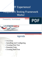 QuestDirect - PS Testing FrameWork - Experience