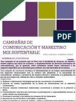 Campañas de comunicación y marketing mix sustentable