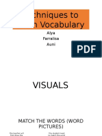 Techniques to Teach Vocab