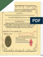 Xutšu Indigenous Standing Process Certificate of Completion