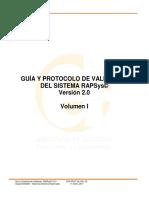 Rapsys v2 Protocolo Validacion Vol I