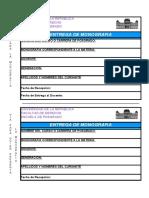 b) Formulario Entrega de Monografias 6