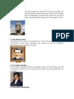 10 PROCERES GUATEMALTECOS