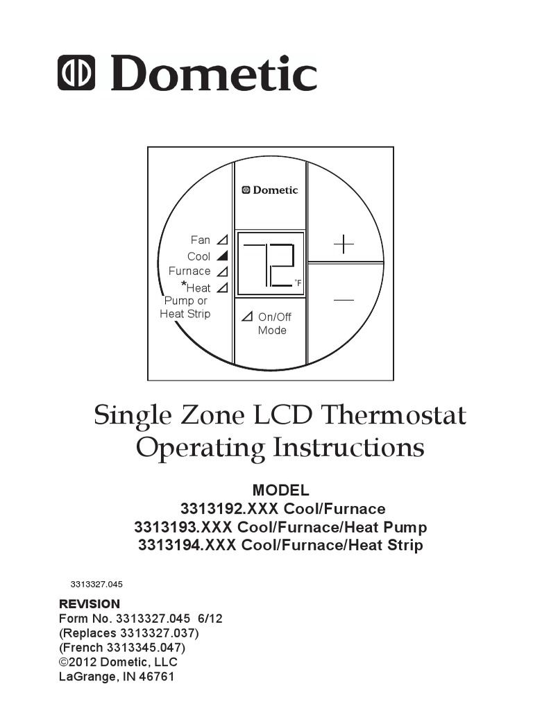 Single zone lcd operation manual 17590 thermostat heat pump sciox Image collections
