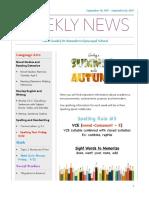weekly newsletter-sept 18 sept 22